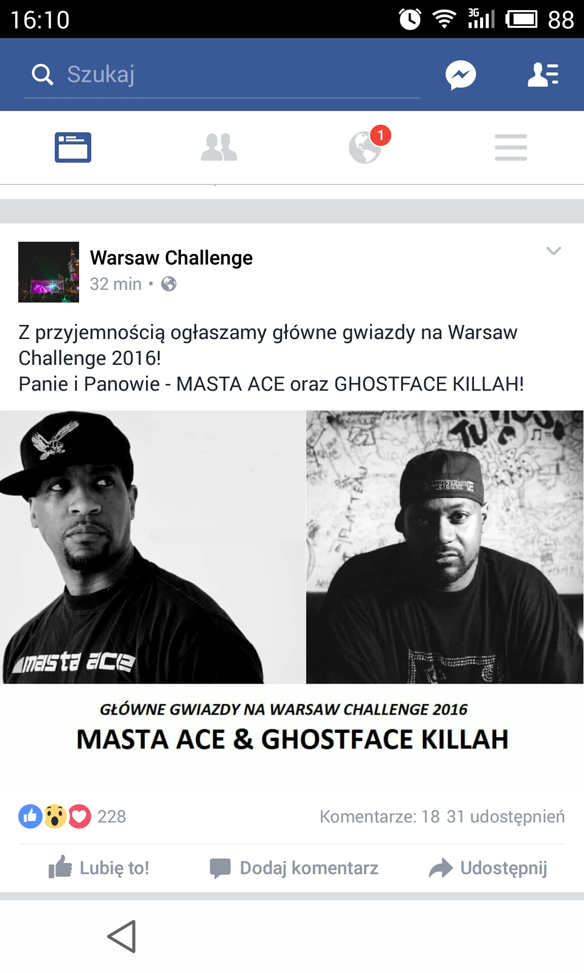 Masta Ace i Ghostface Killah na Warsaw Challenge!