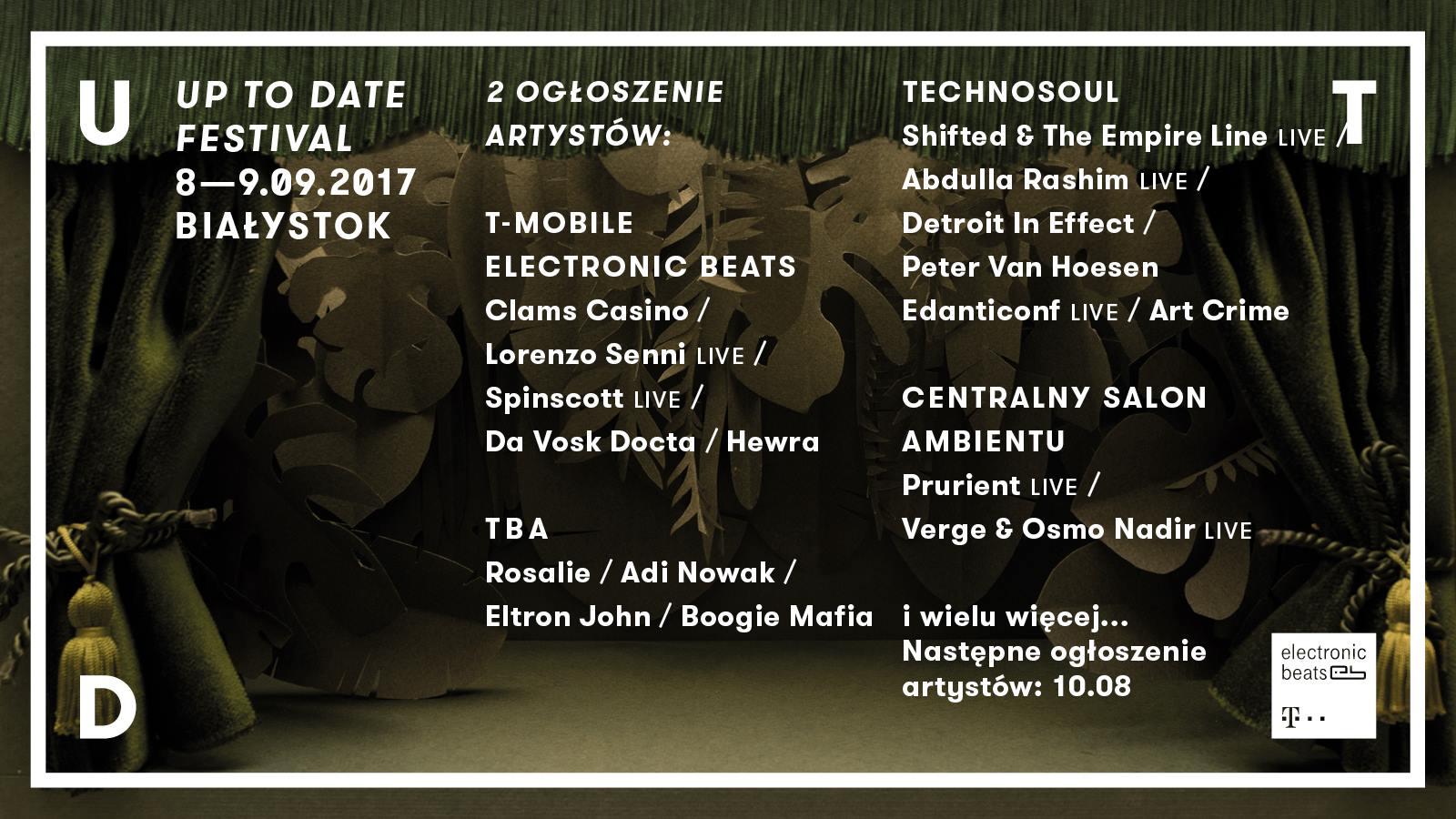 Drugie ogłoszenie artystów Up To Date Festival 2017!
