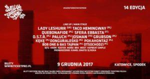 Katowicki Spodek pełen rapu! || ŚRF 2017 || Pełen line up!