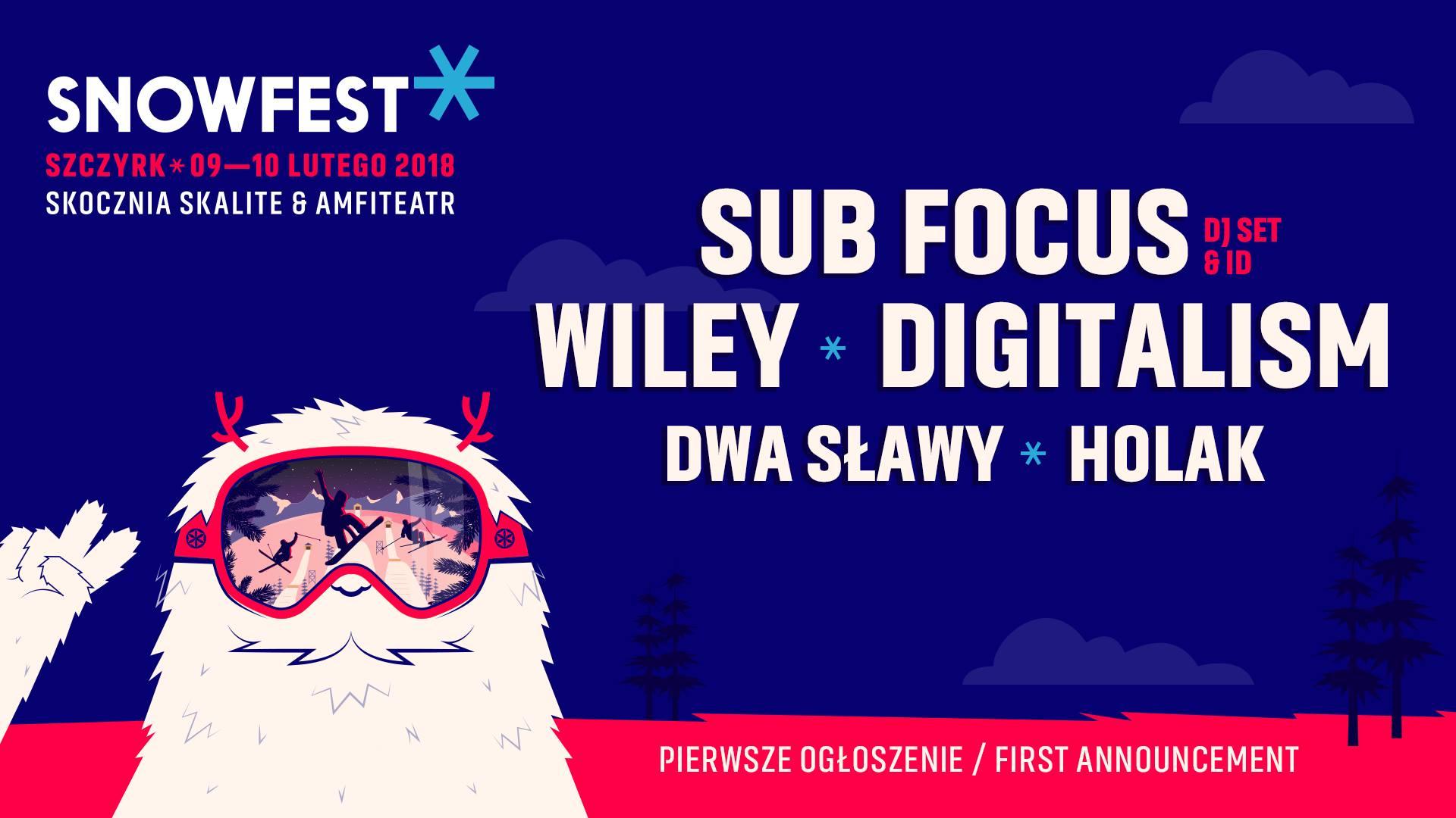 SnowFest Festival 2018 || Pierwsi artyści już znani!