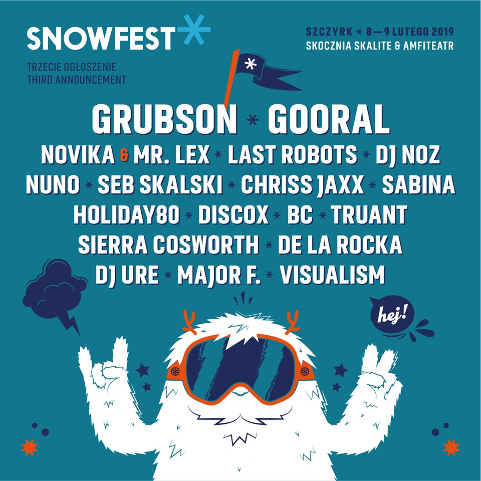 Ogłoszenia po raz trzeci! SnowFest Festival 2019!