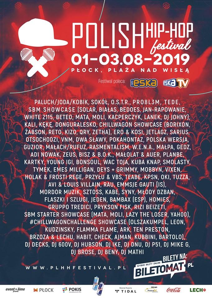 Kompletny line-up Polish Hip-Hop Festival Płock 2019!