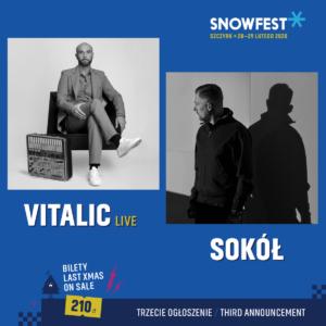 Sokół i Vitalic kolejnymi headlinerami SnowFest Festival 2020!