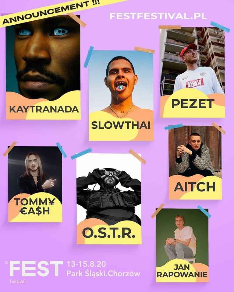 Kaytranada, SlowThai i TOMM¥ €A$H na Fest Festival 2020!