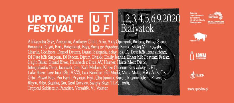 Up To Date Festival 2020 || Pełen line-up już znany!