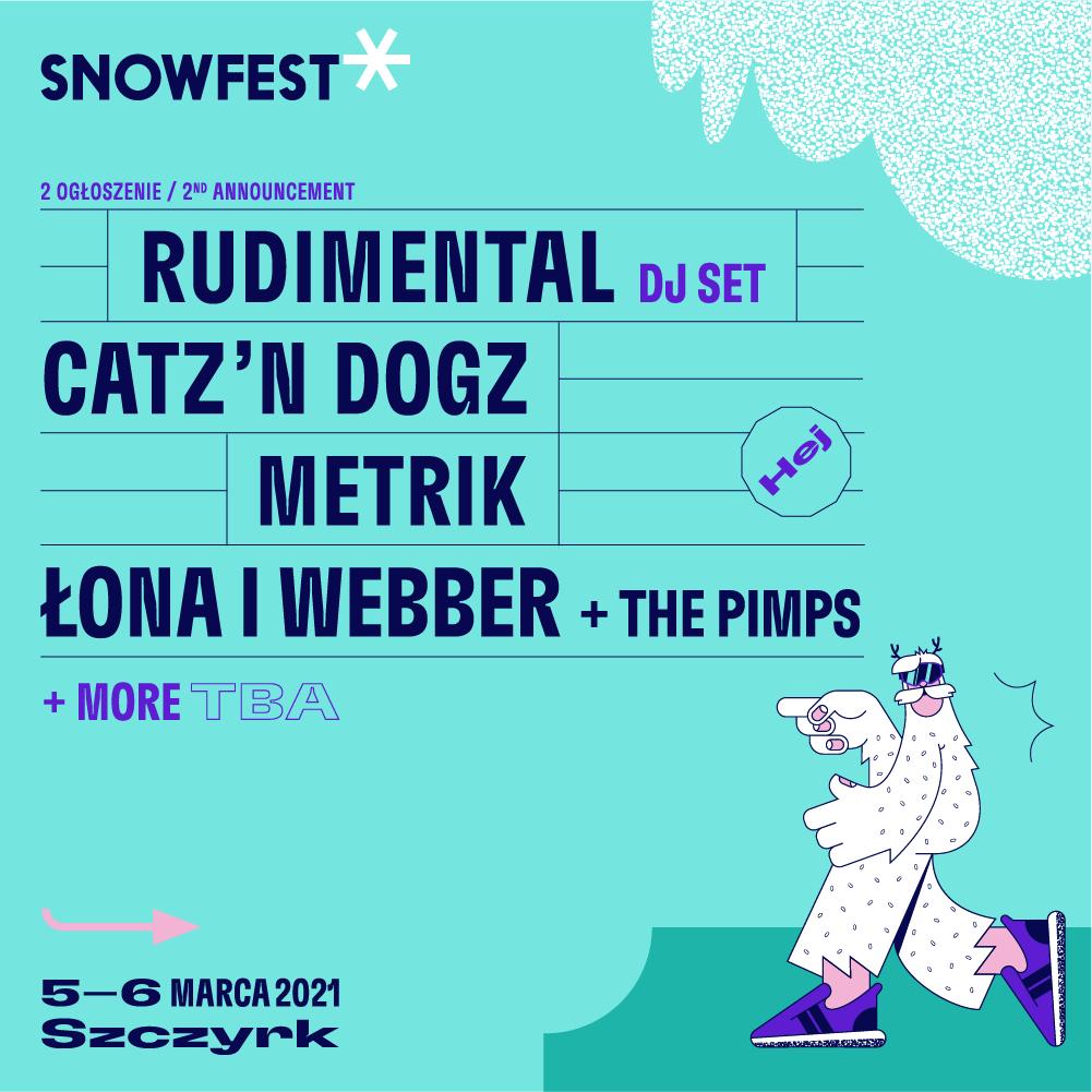 Za 3 miesiące SnowFest Festival 2021! Drugie ogłoszenie artystów!