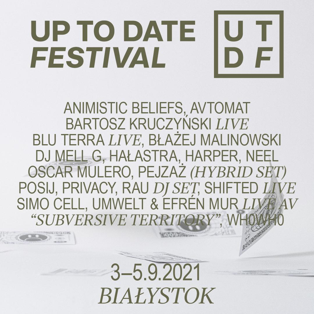 II OGŁOSZENIE ARTYSTÓW UP TO DATE FESTIVAL 2021!
